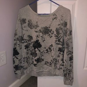American eagle sweater with black floral